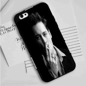 Johnny Depp (bw) iPhone Case