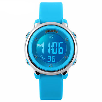 Women Sport Watch Men Kids LED Digital Watch Jelly Silicone Divering Sports Watches Children Waterproof Wristwatch