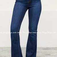Wide Leg Retro Flared Denim