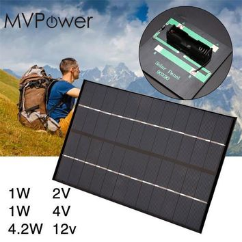 MVpower 1W 2V 4V Solar Panel Charging Board for AA Battery Charger High Quality Polycrystalline Silicon Material Power Bank