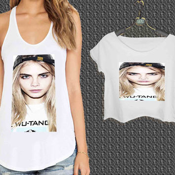Cara Delevingne Fashion Model Star Victoria s Secret For Woman Tank Top , Man Tank Top / Crop Shirt, Sexy Shirt,Cropped Shirt,Crop Tshirt Women,Crop Shirt Women S, M, L, XL, 2XL**