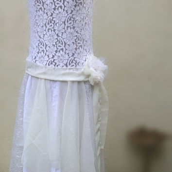 Fairy princess wedding Dress Designed by KheGreen 1920's inspired Whimsical Flapper Bride Dress