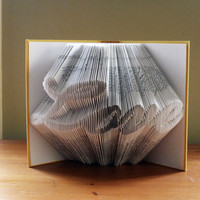 Unique Wedding Decoration - LOVE - Anniversary Gifts - For Book Lovers - Girlfriend Gift - Boyfriend Gift -  Book Sculpture