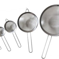 Stainless Steel Fine Mesh Strainers All Purpose Colander Sieve (5 Pack Value)