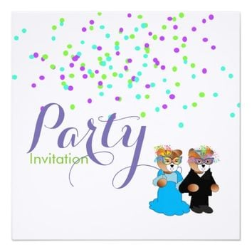 Masquerade Theme Party Invitation