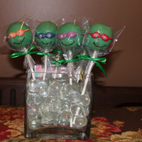 Handmade Teenage Mutant Ninja Turtle (TMNT) Cake Pops