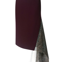 Wool Crepe And Metallic Glitter Tulle Skirt | Moda Operandi