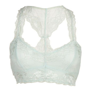 Racer Back Lace Bra - Mint - Large