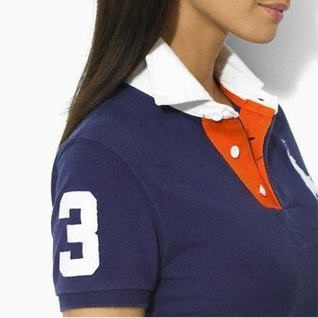 NEW POLO RALPH LAUREN SHIRT WOMEN SKIRT SHORT SLEEVE T-SHIRT SIZE: S-XL-6