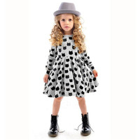 2017 Autumn Spring Girl Dress Animal Print Kids Clothes Long Sleeve Cotton Girls Clothes Casual Children Clothing