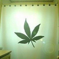 Marijuana Leaf Shower Curtain Cannabis Hemp Weed Leaf