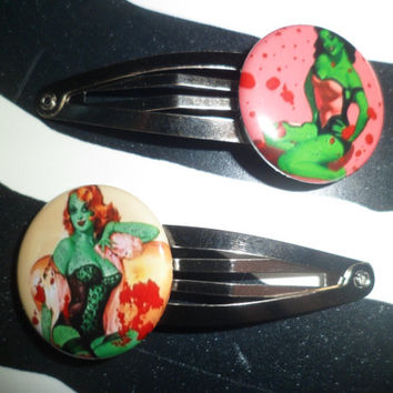 Pinup Zombie barrettes