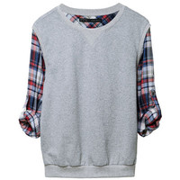 COMBINATION CHECKED SWEATER - Sweatshirts - Woman - ZARA United States