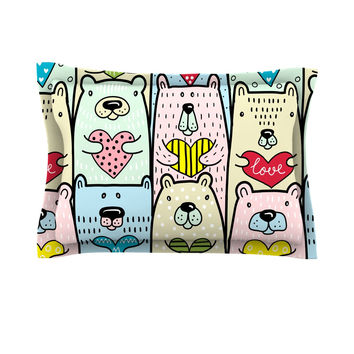 "Snap Studio ""Bear Hugs"" Animal Illustration Pillow Sham"