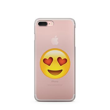 """CLEARANCE"" In Love Emoji - Clear Case Cover"