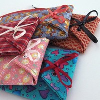 5 Fabric Gift Card Wraps Reusable and Fully Lined | SuzanneMedrano - Paper/Books on ArtFire