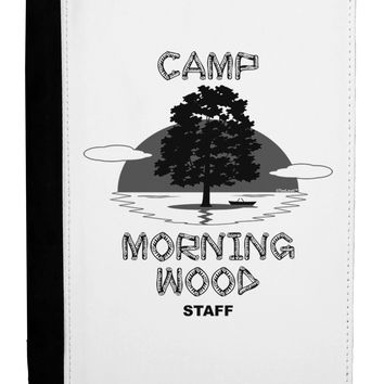 Camp Morning Wood Staff - B&W Ipad Mini Fold Stand  Case by TooLoud