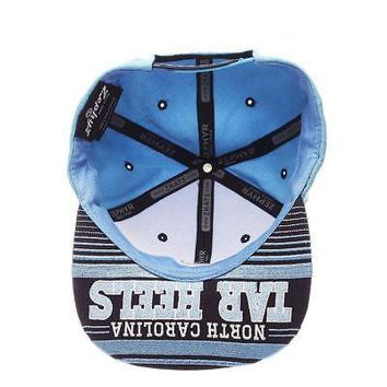 North Carolina Tarheels Hat UNC NCAA Drop Step Snapback Zephyr Adjustable