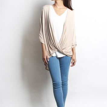 Women's Long Sleeve Wrap Cardigan