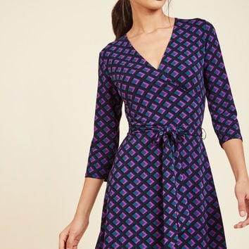 Wrap of Luxury A-Line Dress in Diamonds | Mod Retro Vintage Dresses | ModCloth.com