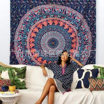 DCCKJG2 Mandala Tapestry Round Wall Hanging Tapestries Boho Beach Picnic Camping Tapestries Throw Towel Yoga Home Decorations