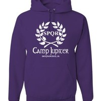 Large Purple Adult Camp Jupiter SPQR Sweatshirt Hoodie