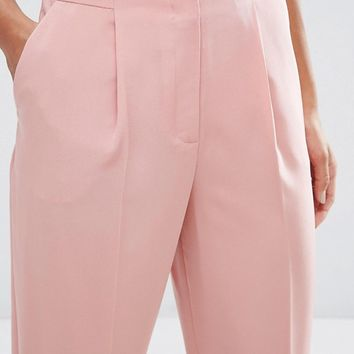 ASOS Soft Lux Tapered Trousers at asos.com