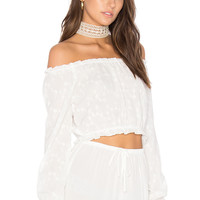Lisakai Off Shoulder Top in White | REVOLVE