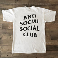 Anti Social Social Club White Tee Shirt ASSC Kanye West Kardashians T-Shirt