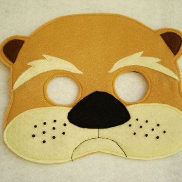 Children's Otter Felt Woodland Animal Mask