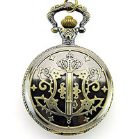 Sinceda Anime Cosplay Kuroshitsuji Black Butler Sebastian Pocket Watch