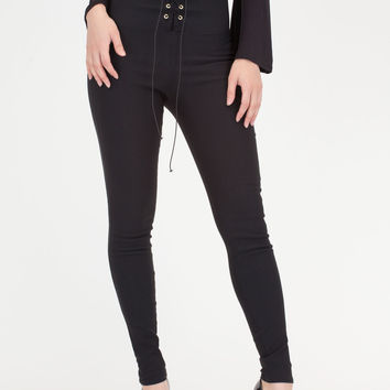 Rock Goddess Lace-Up Skinny Pants GoJane.com