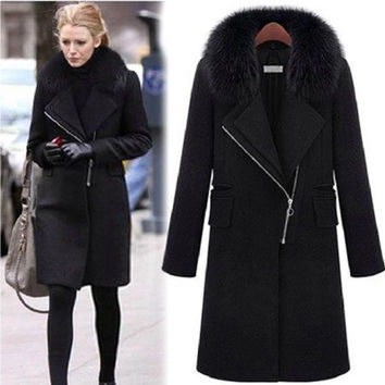 Our winter 2016 mm large size women trade slim slim in the long hair [9344408644]