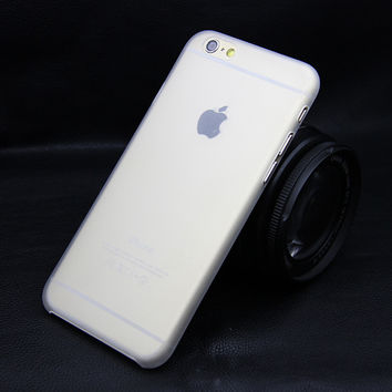 Matte Transparent Ultra-thin 0.3mm Back Case For iPhone 4 4S 5 5S 5c SE 6 6s 4.7 plus 5.5 PC Protective Cover Skin Shell White