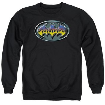 Batman - Hot Rod Shield Adult Crewneck Sweatshirt