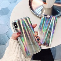 Rainbow Glitter Case For iPhone