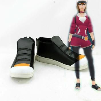 Pokemon Go Male And Female Trainer Two Style Shoes Black And White Color Cosplay Costu
