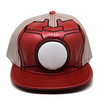 Star Wars Cosplay pu leather Cap Novelty Super hero Hats cartoon ladies dress mans Hat charms Costume Props blue Baseball cap