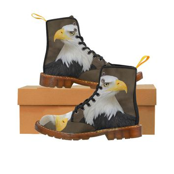 Bald Eagle Lace Up Martin Boots for Women