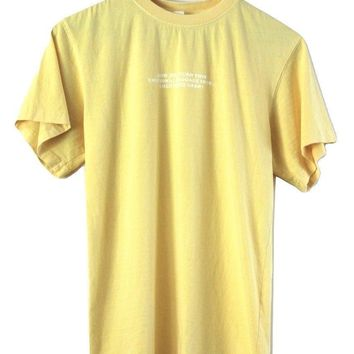 Emotional Baggage Graphic Light Yellow Oversized Unisex Tee