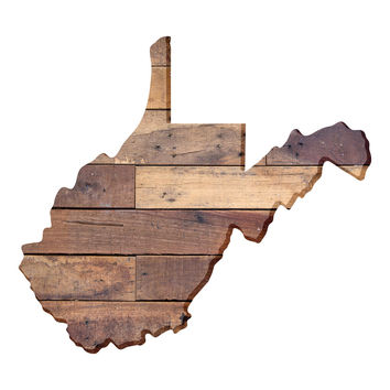 West Virginia Faux Wooden wall decal