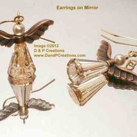 Swarovski Golden Shadow Artemis Angel Earrings, Gold Plated Earwires