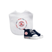 Boston Red Sox MLB Infant Bib and Shoe Gift Set
