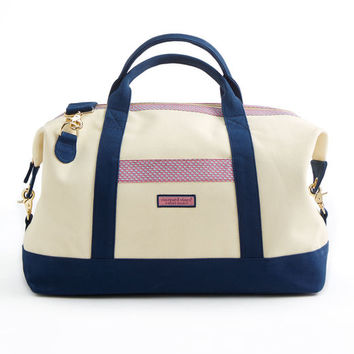 Shop Vineyard Whale Heritage Weekender Bag at vineyard vines
