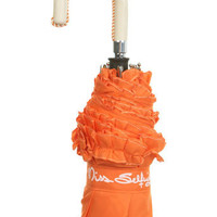 Orange Frill Umbrella - Accessories - Miss Selfridge US