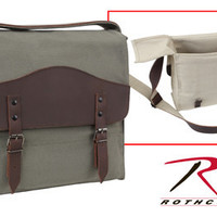 Rothco Vintage Canvas/Leather Medic Bag - No Imprint