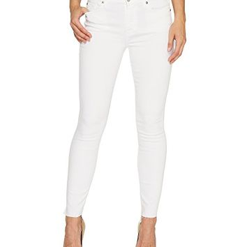 7 For All Mankind The Skinny w/ Step Hem in Clean White