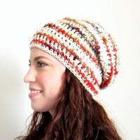 Bohemian Gypsy Tam - Slouchy Cotton and Sari Silk Hat