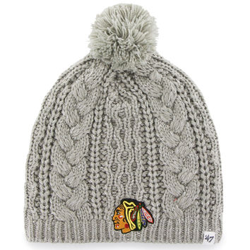Women's Chicago Blackhawks '47 Brand Gray Kiowa Pom Knit Hat
