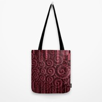 Maroon Decoration #2 Tote Bag by Moonshine Paradise